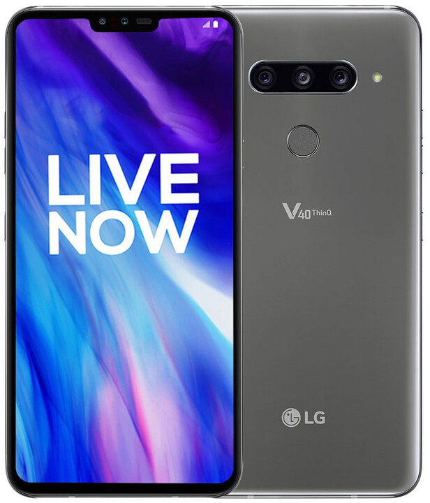 LG V40 ThinQ, 6GB/128GB, Platinum Grey