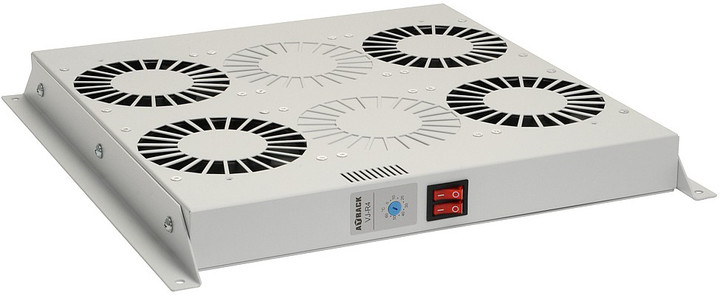 Solarix ventilační jednotka, 4 ventilátory s termostatem. RAL 7035, VJ-R4