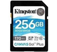 Kingston SDXC Canvas Go! Plus 256GB 170MB/s UHS-I U3 - SDG3/256GB