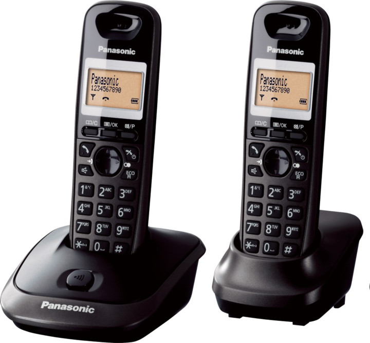 Panasonic DECT KX-TG2512FXT, titan černá