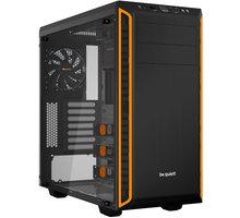 Be quiet! Pure Base 600, okno, černo-oranžová