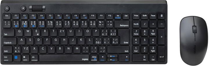Rapoo 8050T Multi-mode, černá