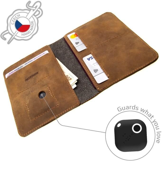 FIXED peněženka Smile Passport se smart trackerem, hnědá