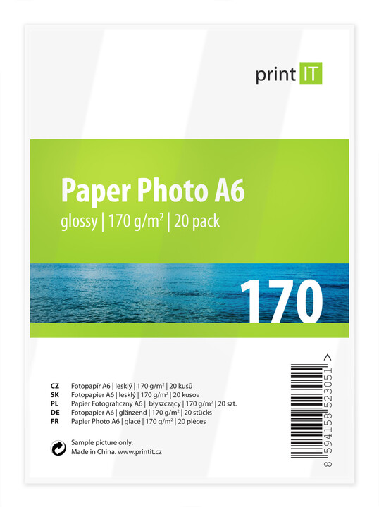 PRINT IT Paper Photo A6 170 g/m2 Glossy 20ks