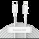 BASEUS kabel Simple Wisdom Kit, USB-C - Lightning, M/M, 20W, 1.5m, 2ks, bílá