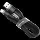 Baseus odolný nylonový kabel USB Lightning 1.5A 2M, šedá + černá