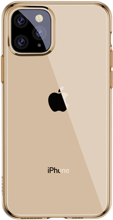 BASEUS Simplicity Series gelový ochranný kryt pro Apple iPhone 11 Pro Max, zlatá
