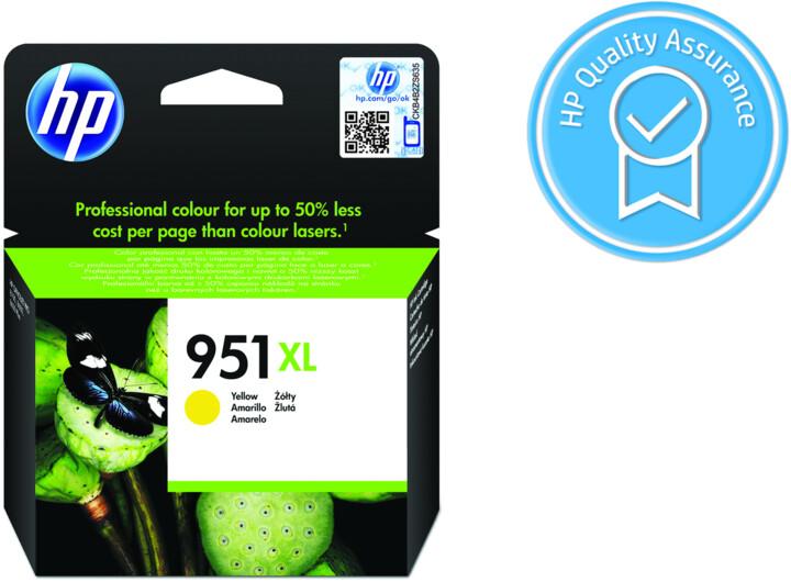 HP CN048AE, Žlutá, č. 951XL – ušetřete až 50 % oproti standardní náplni