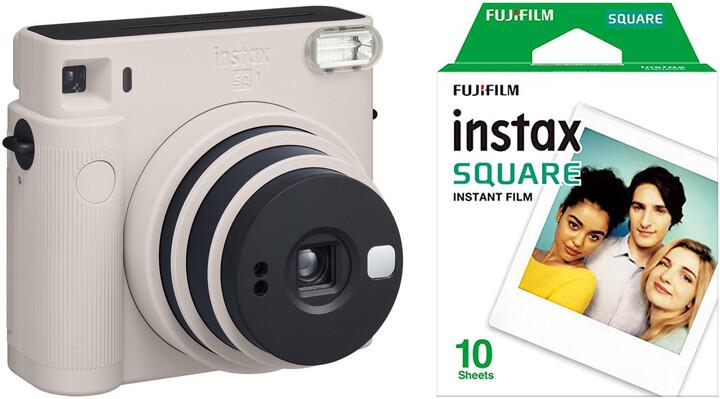 Fujifilm Instax Square SQ1, bílá + film 1x10