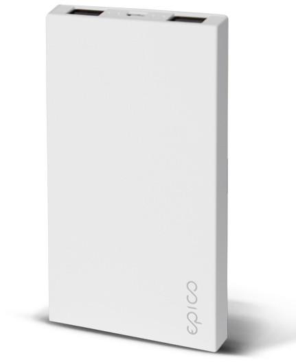 EPICO Slim powerbank 4000mAh - bílá