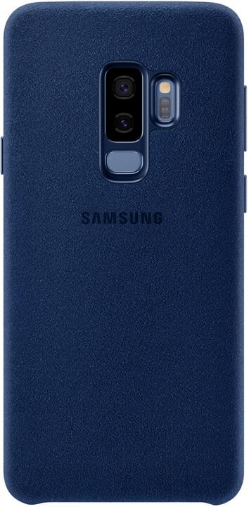 Samsung zadní kryt - kůže Alcantara pro Samsung Galaxy S9+, modrý