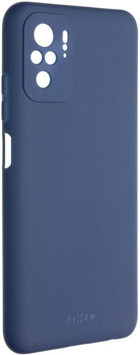 FIXED pogumovaný kryt Story pro Xiaomi Redmi Note 10/Note 10S, modrá