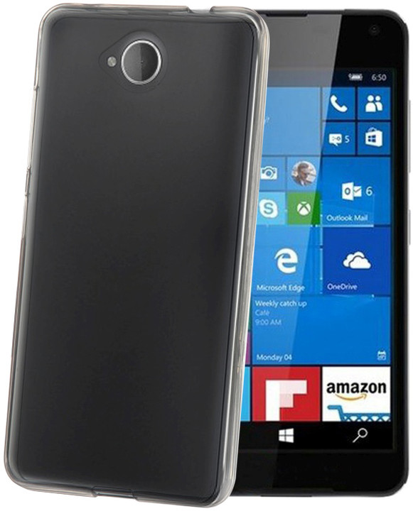 CELLY Gelskin TPU pouzdro pro Microsoft Lumia 650, bezbarvá