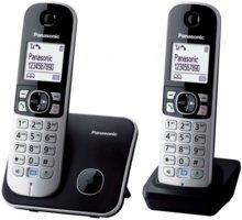 Panasonic DECT KX-TG6812FXB, černo-stříbrná