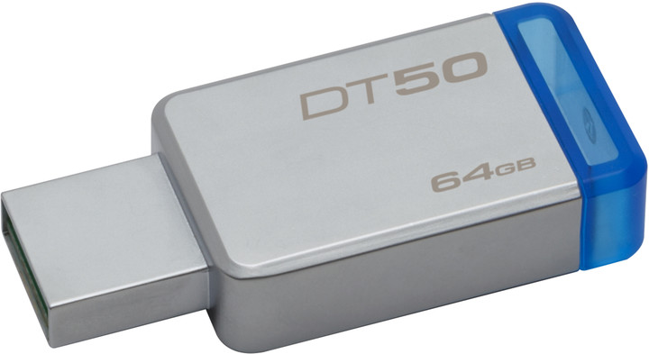 Kingston DataTraveler 50 - 64GB modrá