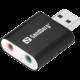 Sandberg externí zvuková karta, USB na Sound Link, černá