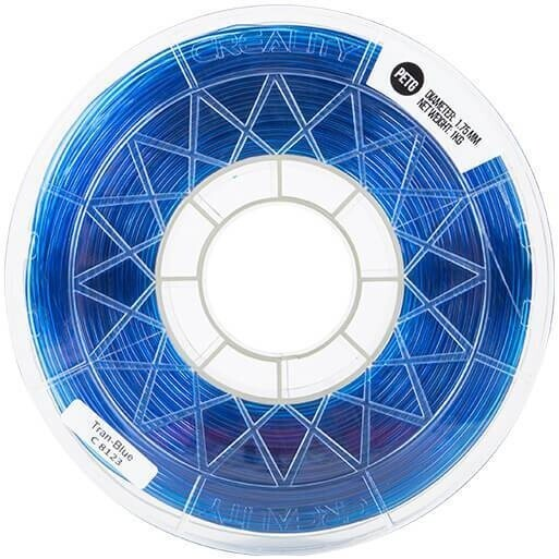 Creality tisková struna (filament), CR-PETG, 1,75mm, 1kg, průhledná modrá