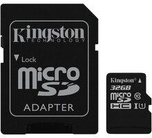 Kingston Micro SDHC Canvas Select 32GB 80MB/s UHS-I + SD adaptér