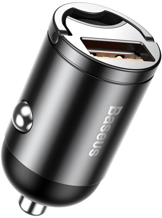 Baseus Tiny Star Mini nabíječka do automobilu USB (30W), šedá