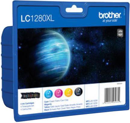 Brother LC-1280XLVALBP - inkoust multipack (černá+tři barvy)