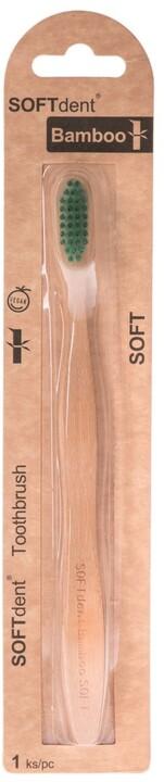 SOFTdent BAMBOO - zubní kartáček soft, 1 ks