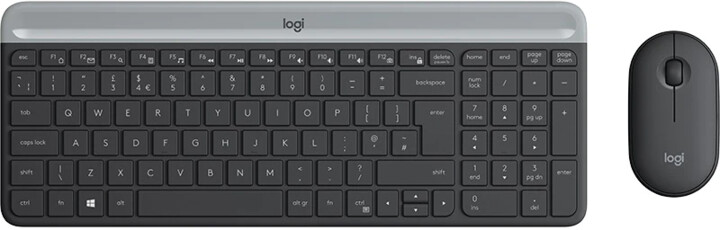 Logitech MK470 Slim Wireless Combo, CZ/SK, černá