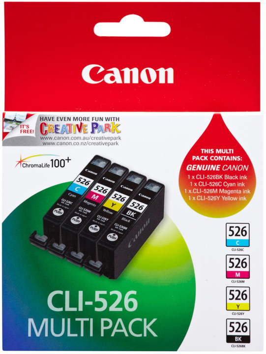 Canon CLI-526 C/M/Y/BK Photo Value pack security
