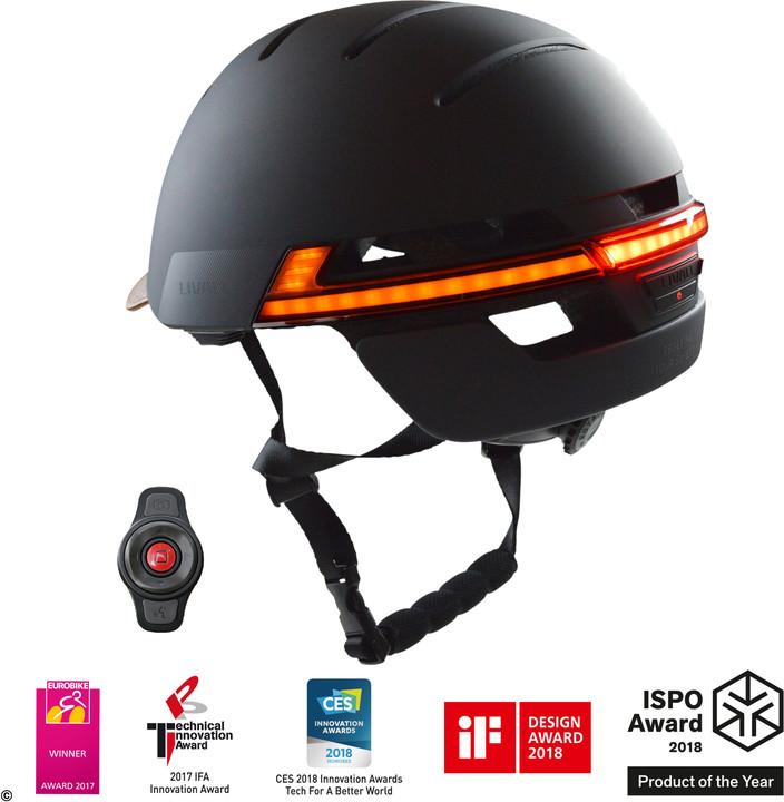 LIVALL BH51M chytrá cyklistická přilba, černá