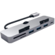 Satechi Aluminum Type-C Clamp HUB Pro, šedá