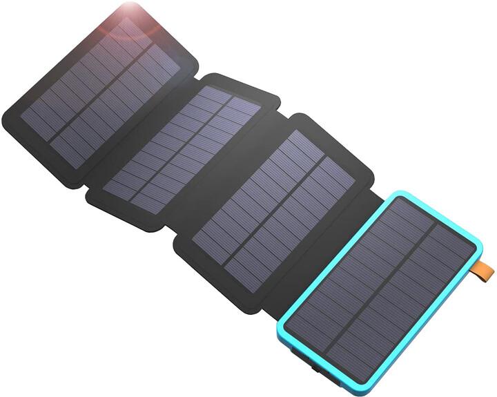 Allpowers solární nabíječka, 7.5W + powerbanka 20000mAh, černá/modrá