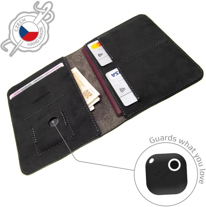 FIXED peněženka Smile Passport se smart trackerem, černá