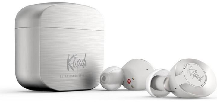 Klipsch T5 II True Wireless, stříbrná