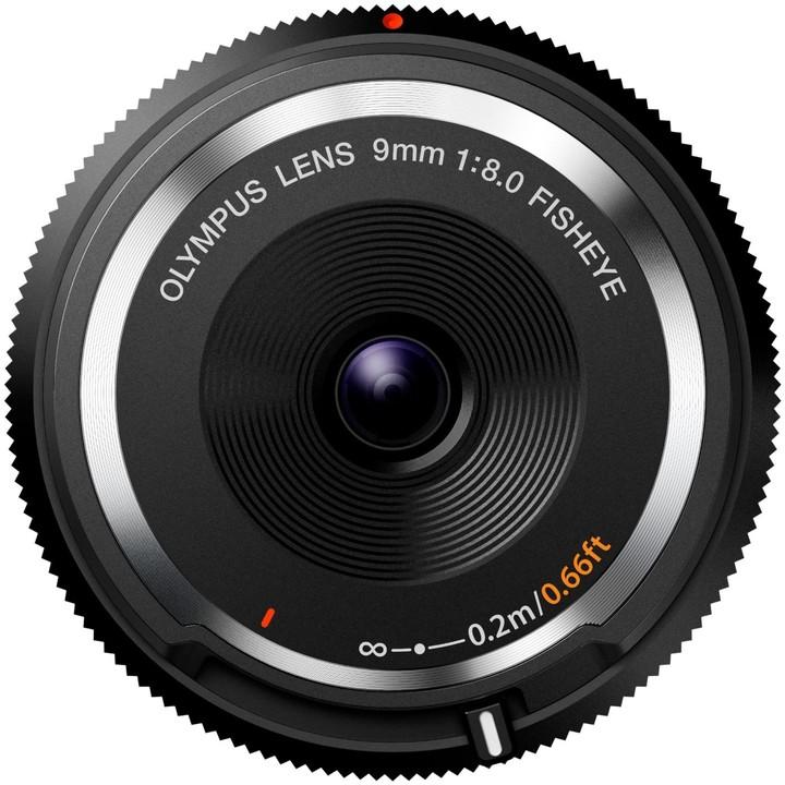 Olympus Body Cap Lens 9mm f/8 Fisheye, černá