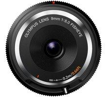 Olympus Body Cap Lens 9mm f/8 Fisheye, černá - V325040BW000