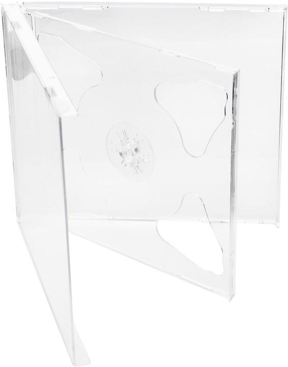 Cover It box:2 CD 10mm jewel box + tray čirý - karton 200ks