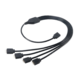 Akasa rozbočovač pro RGB LED pásky (AK-CBLD04-50BK), 50 cm