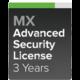 Cisco Meraki MX100-SEC Pokročilá ochrana a Podpora, 3 roky