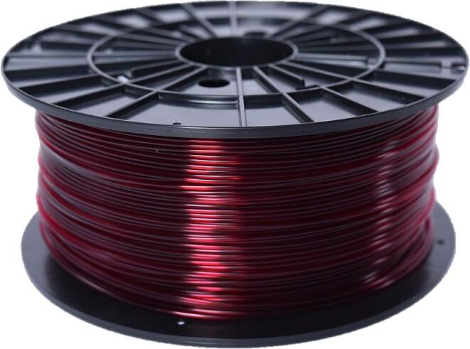 Plasty Mladeč tisková struna (filament), ABS-T, 1,75mm, 1kg, transparentní červená