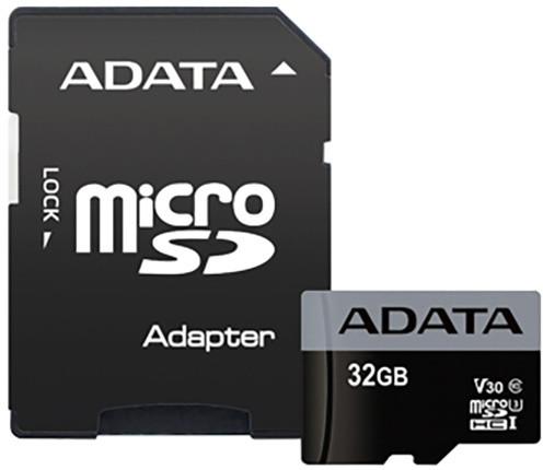ADATA Micro SDHC Premier Pro 32GB 95MB/s UHS-I U3 + SD adaptér