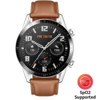Huawei Watch GT 2 Leather Strap, Brown - 55024470
