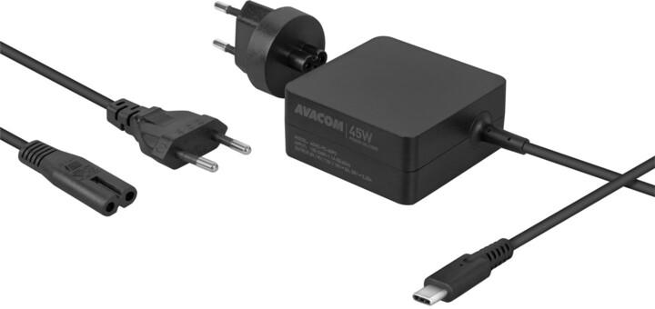 AVACOM nabíjecí adaptér pro notebook, USB-C, PD, 45W