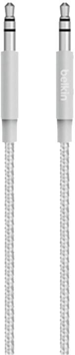 Belkin MIXIT 3,5mm Jack M/M Metallic kabel, 1,2 m, stříbrná