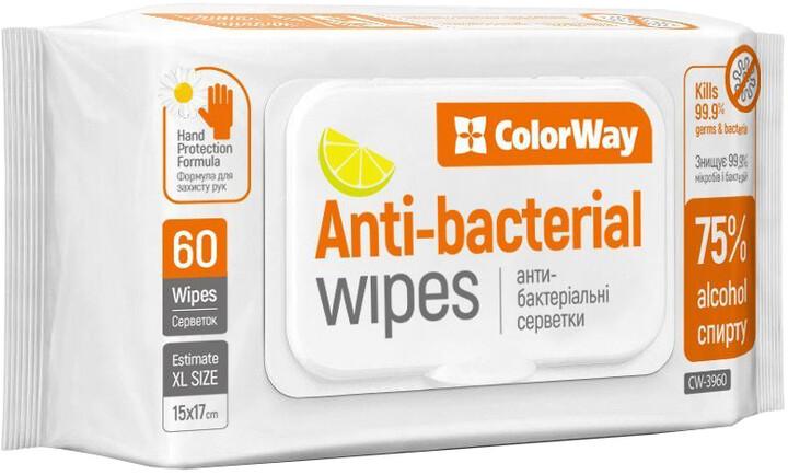 Čistící antiseptické ubrousky COLORWAY 60ks