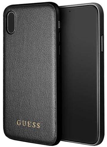 Guess Iridescent Zadní Kryt Black pro iPhone X