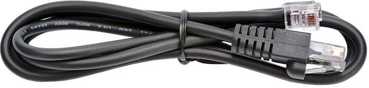 Virtuos kabel RJ12, 9-12V pro zásuvku a tiskárnu/pokladnu, 1,1 m, černá