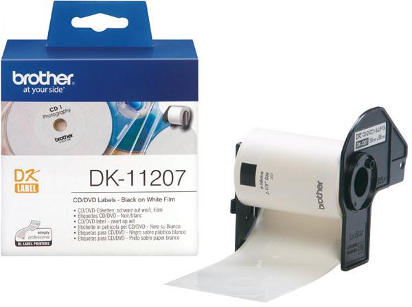 Brother - DK11207 (papírové / CD, DVD štítek-100 ks)