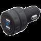 Trust USB nabíječka do auta 10W, 2xUSB 1A, černá