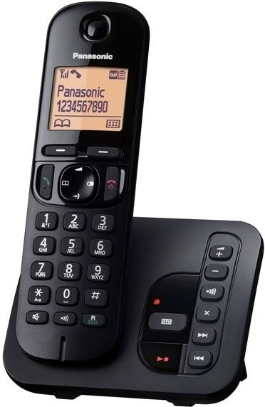 Panasonic KX-TGC220FXB, se záznamníkem, černá