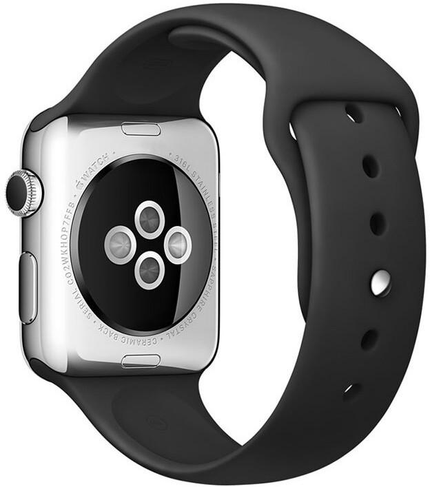 COTEetCI řemínek pro Apple Watch, silikonový, 38 - 40mm, černá