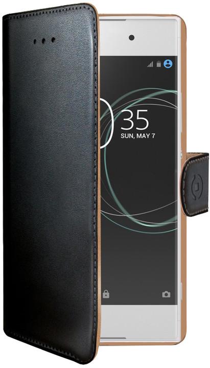 CELLY Wally pouzdro typu kniha pro Sony Xperia XA1, PU kůže, černé
